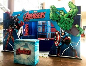 Entre as atividades dos Vingadores há um playground com circuito de treinamento