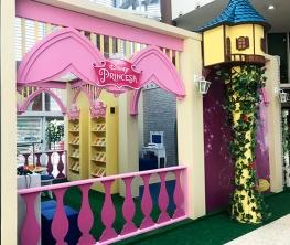 O portal das Princesas dá acesso a atividades relacionadas aos universos de Ariel, Bela, Branca de Neve e Cinderela