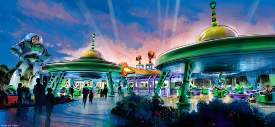 Alien Swirling Saucers Attraction in Upcoming Toy Story Land at